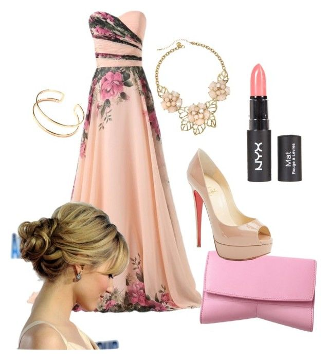 """""""Light pink wedding guest outfit"""" by flowerlover128 on Polyvore"""
