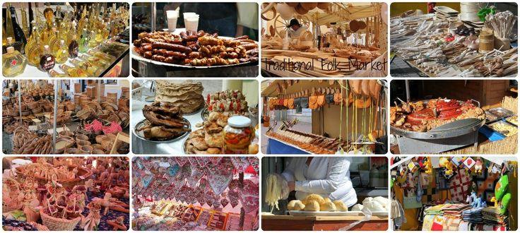 Traditional folk market in Slovakia