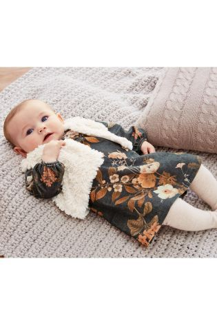 Buy Charcoal Dress, Gilet And Tights Set (0mths-2yrs) from the Next UK online shop
