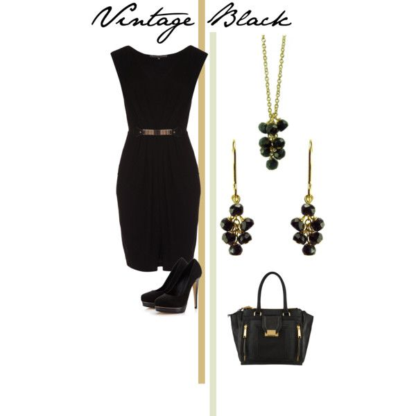 """Vintage Black"" by mounirjewellery on Polyvore"