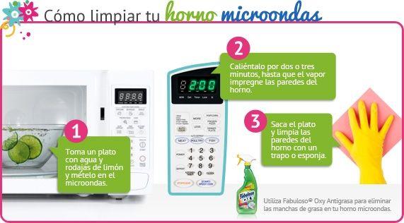 Tips c mo limpiar nuestro horno microondas - Como limpiar el horno ...
