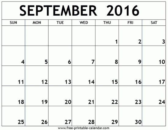 10 best September 2016 Calendar images on Pinterest Calendar - monthly schedule template