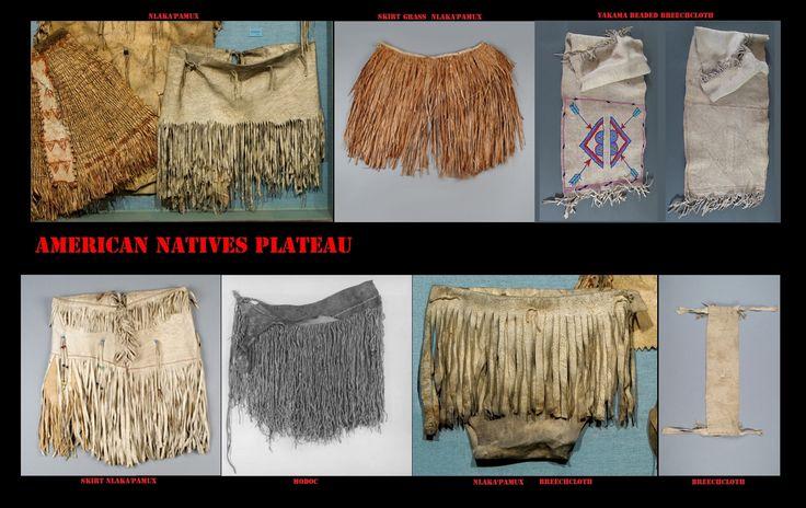 Perizomi maschili e gonne femminili. L'abbigliamento era composto da diversi capi in pelle e in corteccia di cedro.