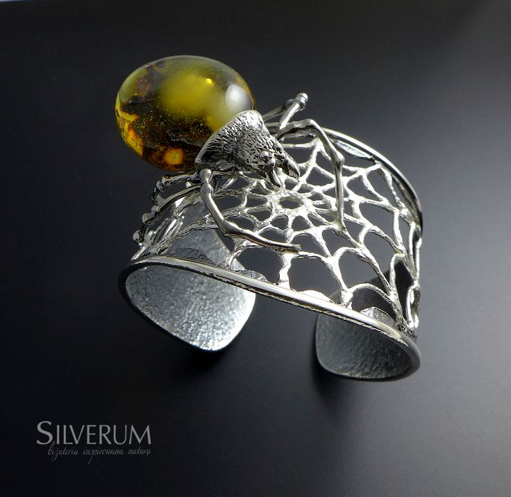 pająk - bransoleta srebrna - www.silverum.com.pl