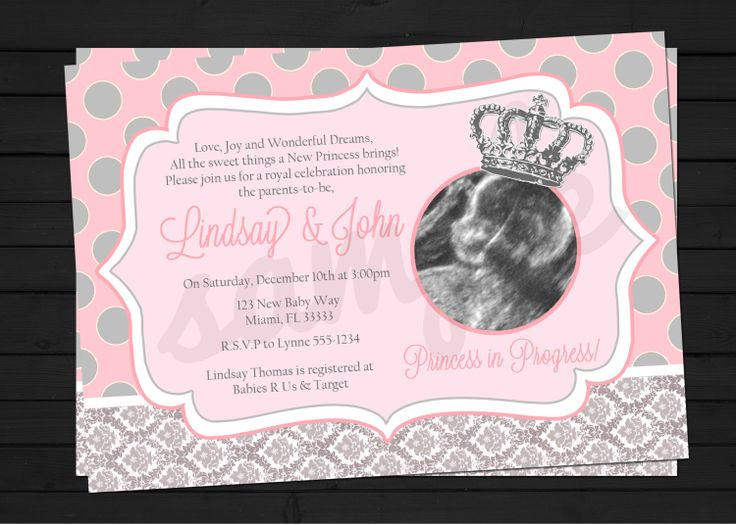 Princess Baby Shower Invitations | Little Princess In Progress Baby Shower  Invitation Digital File YOU .