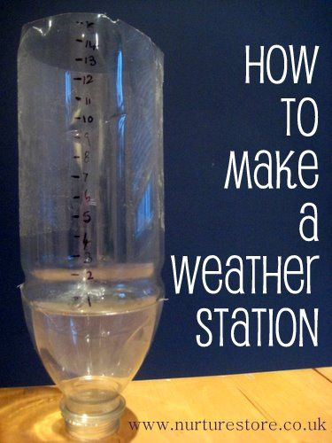 How to make a weather station plus 65+ other great ideas for exploring the weather with your kids: maths, science, art, crafts, all kinds of great ideas for a weather topic. Ever tried to measure the rain with your kids?
