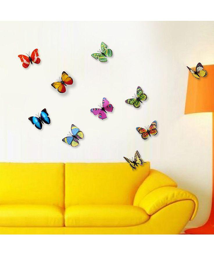 Best Stickers Images On Pinterest Butterflies Random Stuff - Butterfly wall decals 3daliexpresscombuy d butterfly wall decor wall sticker