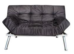 The College Cozy Sofa Mini-Futon Black Dorm Furniture