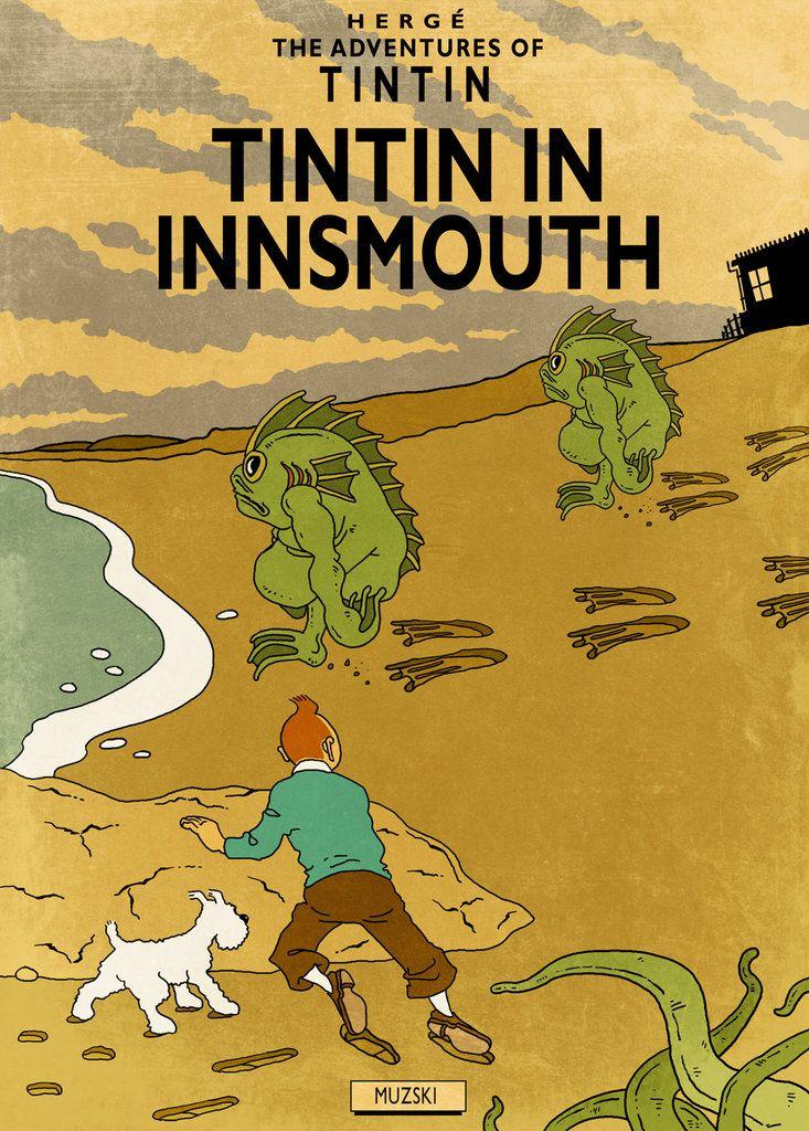 Tintin & Lovecraft by Muzski