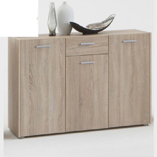 Johanna4 Sideboard In Canadian Oak With 3 Doors And 1 Drawer   Sideboards,  Modern U0026