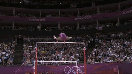 Uneven Bars — Score: 15.733 | Gabby Douglas's All-Around Gymnastics Gold In GIFs