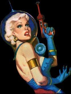 The archetypical ray gun girl, circa 1950