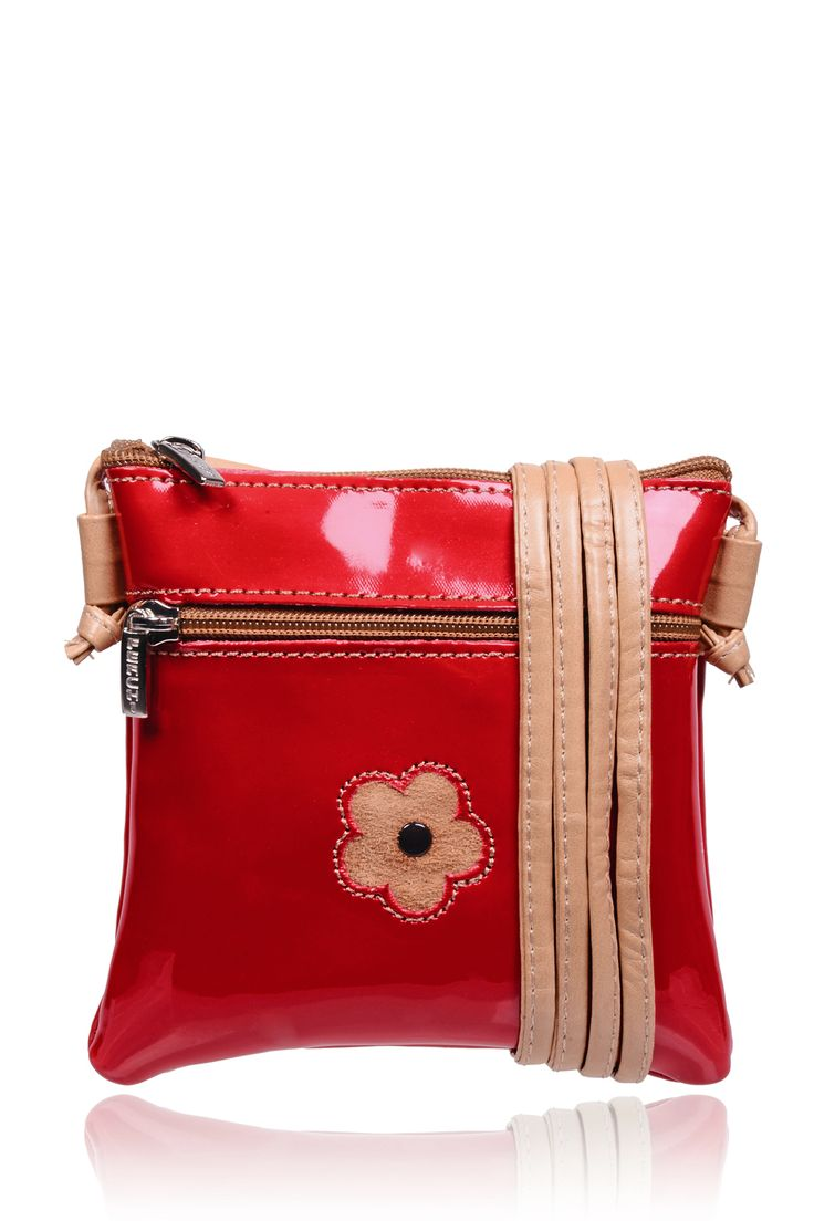 #FERCHI 	 MINI DAISY Red Patent Crossbody Bag   Price: € 33.00