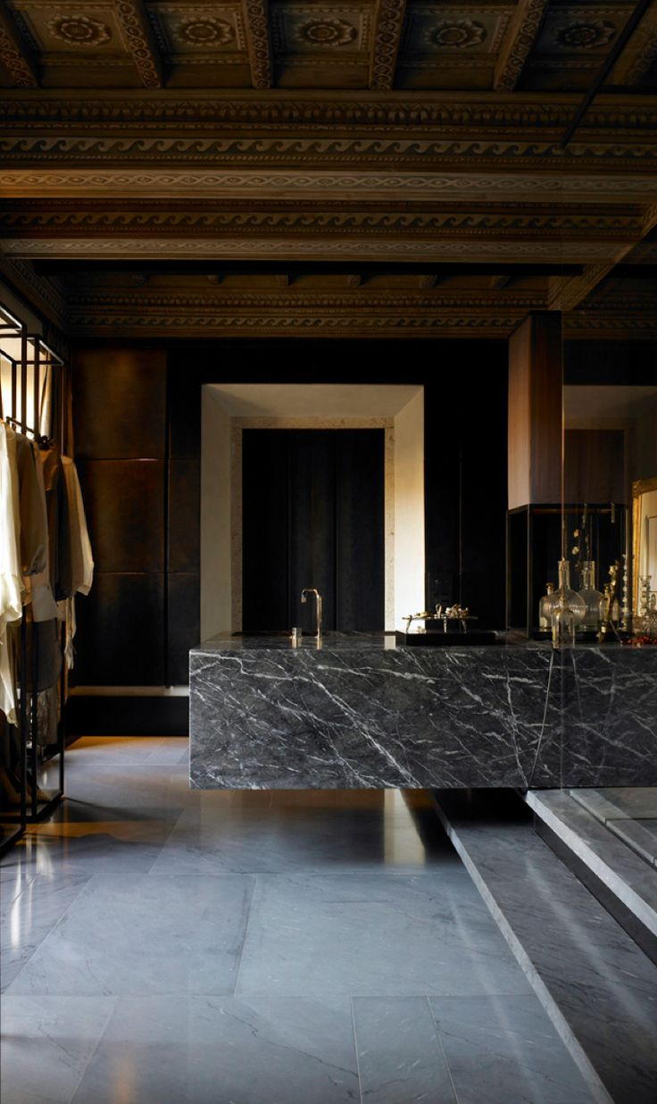 Life is far more fun on the dark side... Stunning dark veined Marble can be…
