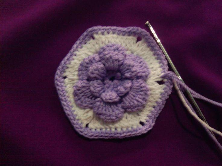 hexagon flower crochet