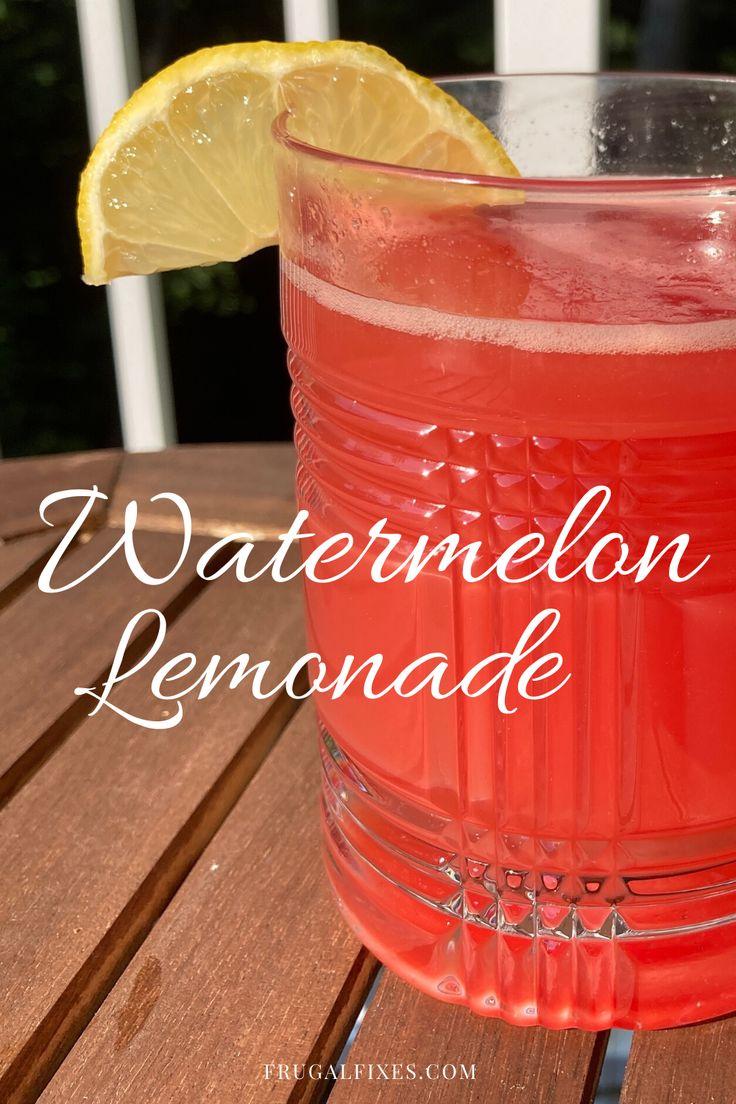 Homemade Watermelon Lemonade In 2020 Watermelon Lemonade Vegan Drinks Recipes Flavored Drinks