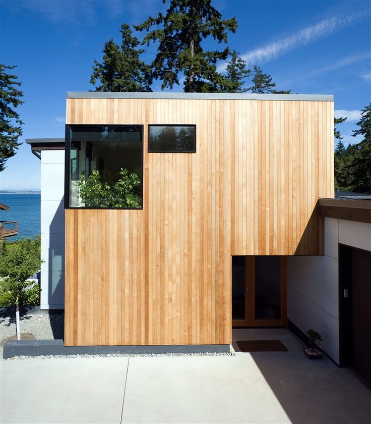 Contemporary Exterior Design Modern Wood Siding: Bainbridge Island Modern Real