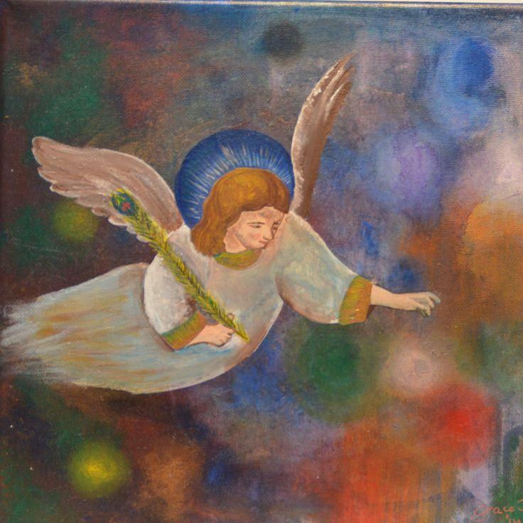 #angel in acrylpaint