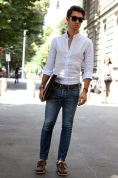 Does your boyfriend have casual Fridays at work? If he does, dress him up with casual style and let him look super handsome! Jeans, a shirt and a jacket look classical, casual and super hot, choose bold colors and patterns, which aren't allowed on usual week days; a tie will make such a look more...