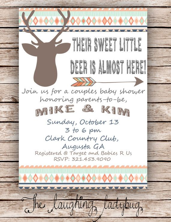 Deer baby shower Hunting shower Deer shower by TheLaughingLadybug, $15.00 @Jessi Crawford