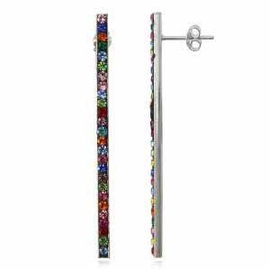 NA0452SWSS Strieborné náušnice so Swarovski krištáľmi #farebne #color #jewelry #sperky #supersperky #krasnesperky #sterlingsilver #silver #striebornesperky #nausnice #earrings #rainbow