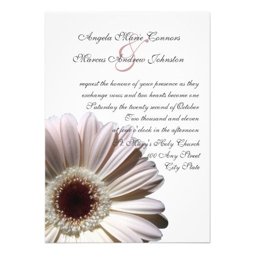 White Daisy Wedding Invitation: 17 Best Images About Daisy Wedding Invitations On