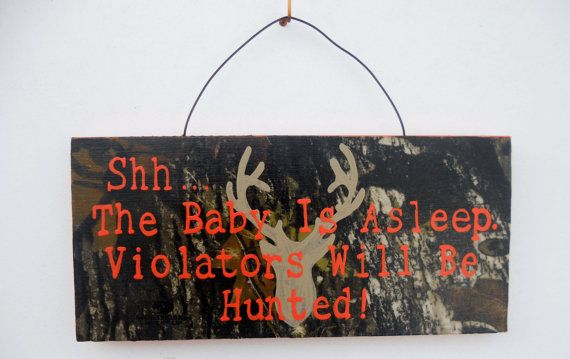 Mossy Oak Baby Sleeping Nursery/ Front Door Sign