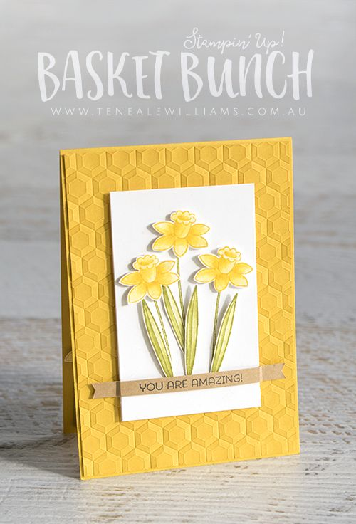 By Teneale Williams | Stampin' Up! Materials used | Basket Bunch Stamp Set to Create Mothers Day