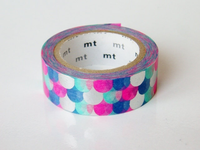 mt Washi Masking Tape - Metallic Fish Scales - Limited Edition. $13.00,