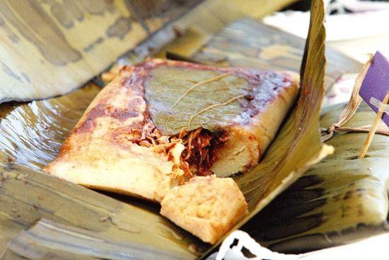 Tradicionales tamales chiapanecos.