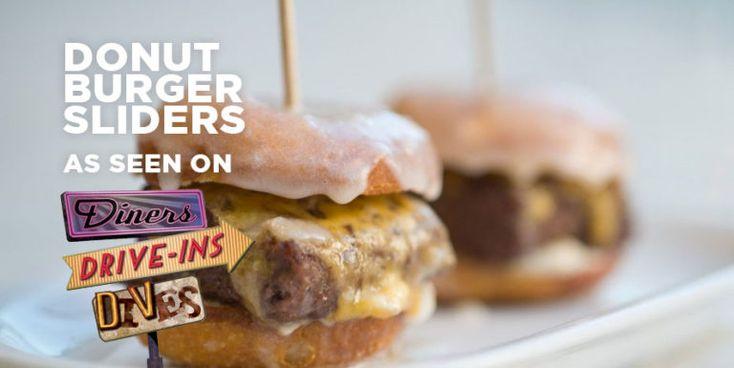 Original dinerant donut burger sliders food burger