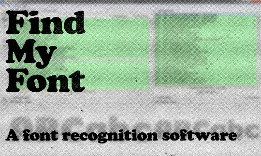 Find My Font   A font recognition software