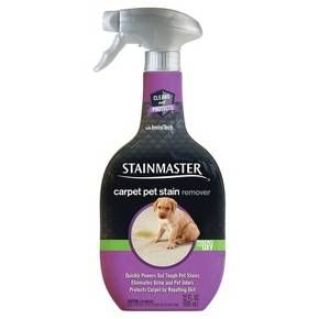 Pets and carpet aren't always a perfect match but STAINMASTER™ Carpet Pet Stain Remover lifts away tough pet stains and eliminates odors. Some other stain removers can leave a sticky residue that can attract dirt over time, but our breakthrough technology is designed to quickly clean on contact and repel dirt to protect against resoiling to keep your carpet looking newer longer. And thanks to our powerful ODOR REMOVE™ technology, odors are eliminated within minutes so yo...