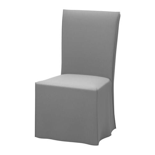Awesome Henriksdal Chair With Long Cover Dark Brown Blekinge Pdpeps Interior Chair Design Pdpepsorg