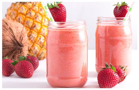 Pineapple, Strawberry & Coconut Water Smoothie Recipe