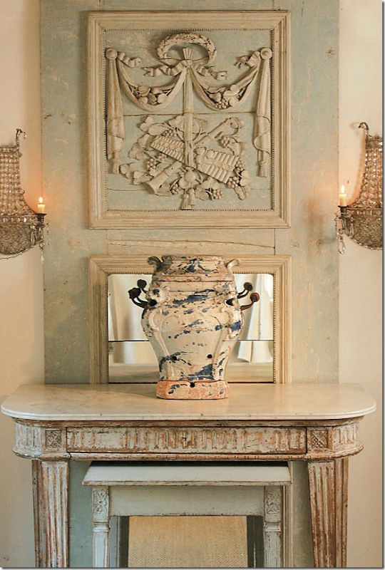 Combination of sconces and mirror - Jane Moore Interiors