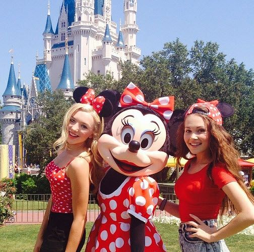 Honestly I don't think any disney world trips are planned for Callie and Blair, but it was cool to find this random photo of them