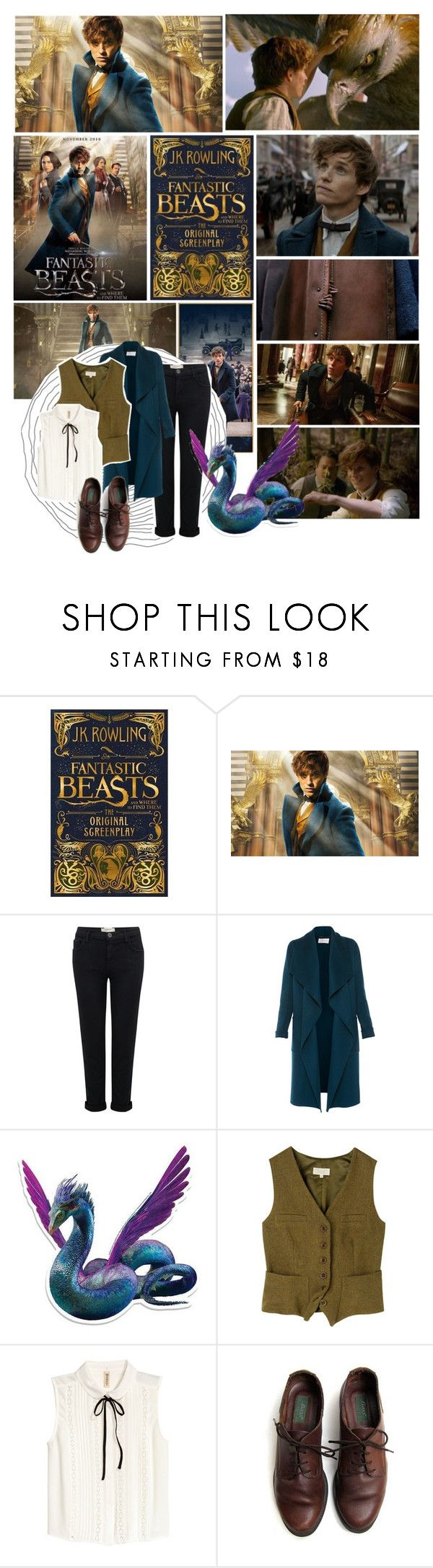 """""""Fantastic beasts and where to find them // Newt Scamander"""" by purplexlittlexbear ❤ liked on Polyvore featuring Trilogy, Radcliffe, Current/Elliott, L.K.Bennett, Toast and H&M"""