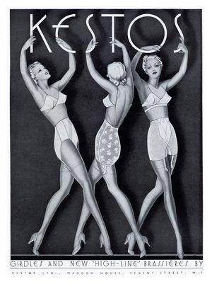 Kestos Lingerie, Art Deco Advert, 1930s