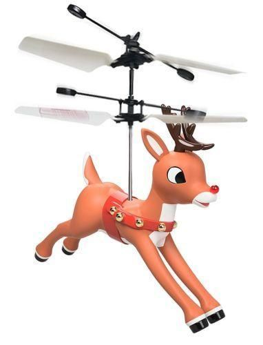 Rudolph the Red Nosed Reindeer Flying Helicopter Toy Mini Drone