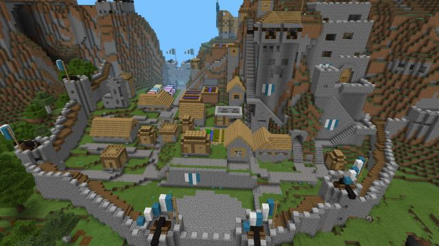 (I don't know the seed, this is not my creation) Mountain Castle Map [Creation] - MineCraft Pocket Edition ...