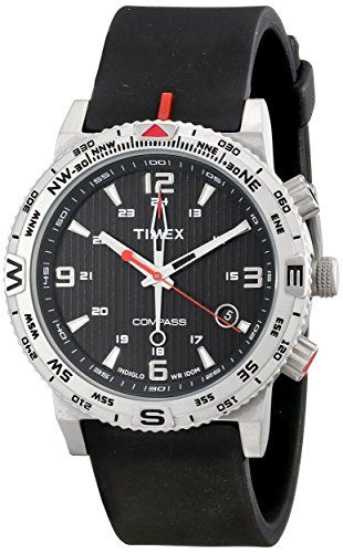 Timex Mens T2P285 Intelligent Quartz Adventure Series Stainless Steel Watch with Black Band ** You can find out more details at the link of the image.