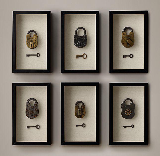 Vintage Lock & Key Boxes