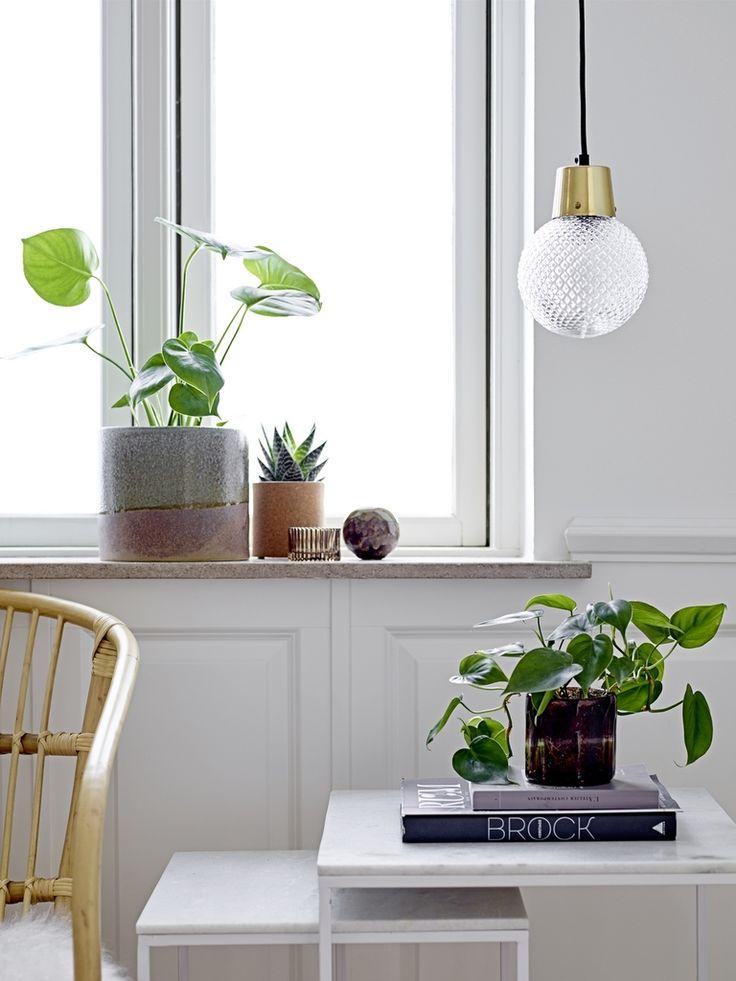 lampe en verre smocké