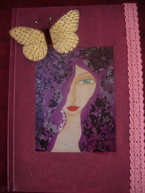 Unique  handmade hardcover journal/diary/notebook with by eltsamp, $30.00