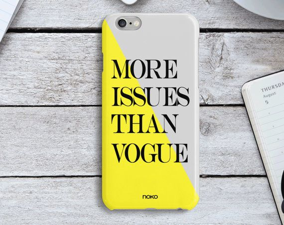 DESCRIPTION: NOKO Colourful More Issues than Vogue iPhone 6/6S & Plus Case  Designed in Italy - Made in USA  The case is made of transparent