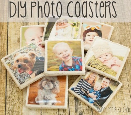 DIY Tile Photo Coasters Great for Mother's Day