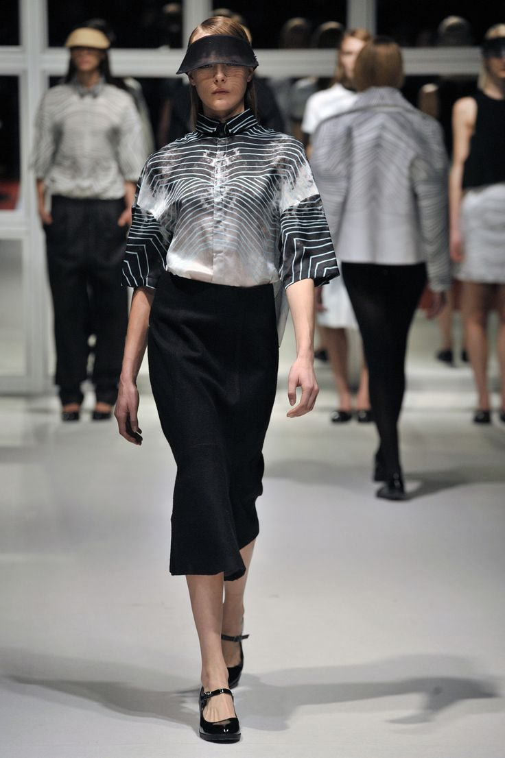 Look 7: Space Shirt with Airplane Long Skirt