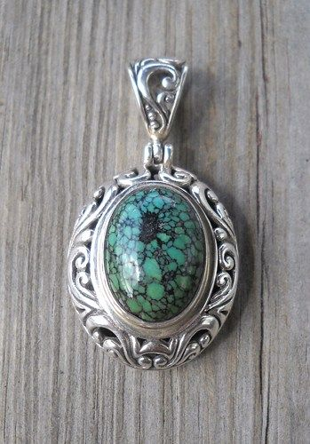925 Sterling Silver Malachite Pendant  Weight:13.9 grams 30x25mm Total length:45mm Trackable shipping  Handmade,brand new