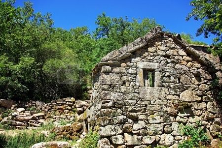 Ruins of old village north of Portugal  Stock Photo